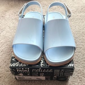 Mini Melissa Sandals Size 10